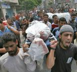 Gazans march in a funeral procession for a victim of Israel's war