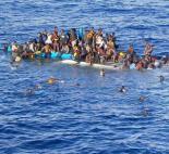Victims of a capsized migrant boat in the Mediterranean Sea