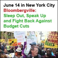 Bloombergville: Sleep Out, Speak Up and Fight Back | New York City | June 14