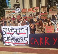 Columbia University students stand with survivors of sexual assault (Jen Roesch)