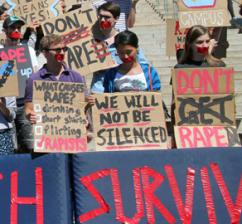 Columbia students protest against sexual assault on campus (No Red Tape)