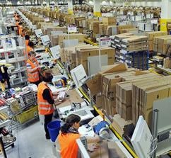 At work in a massive Amazon warehouse (Scott Lewis)