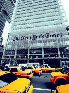 The offices of the New York Times