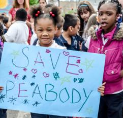 Students help kick off day three of Chicago's West Side march against school closures (Sarah-ji)