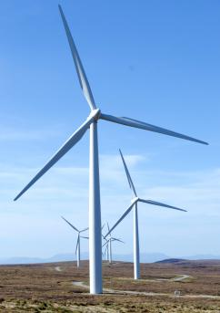 A wind farm in Scotland that produces enough energy for 54,000 households (Steve Abraham)