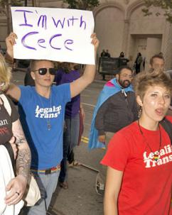 Participants in a Pride march in San Francisco show their support for CeCe McDonald (Eric Wagner)