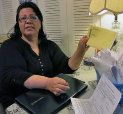 A low-wage worker struggles to cover her bills