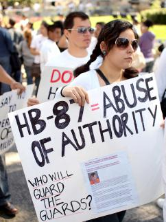 Thousands protested against the anti-immigrant bill HB 87 in Atlanta