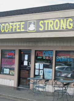 The Coffee Strong GI coffeehouse near Fort Lewis in Washington state (Nicole Bowmer | SW)