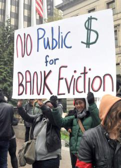 Rallying for a moratorium on evictions at Portland's City Hall (Jamie Partridge | SW)