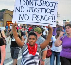 Protests continued daily for weeks after the killing of Mike Brown (Eric Ruder | SW)