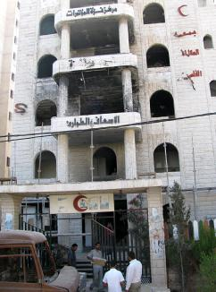 The Al Quds hospital in Gaza City, damaged in Israel's assault (Tom Arabia | SW)