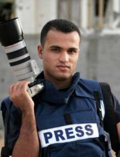 Palestinian journalist Mohammed Omer