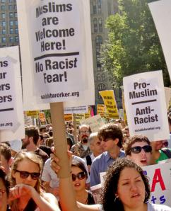 New Yorkers march against the bigots who protested an Islamic community center (Matt Swagler | SW)