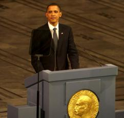 Obama receives the Nobel Peace Prize