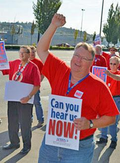 Boeing engineers and technical professionals rallied for a fair contract in the Puget Sound region last week (SPEEA | SPEEA)