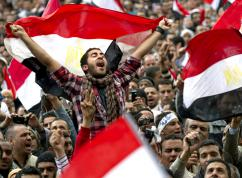Millions of Egyptians celebrate as Hosni Mubarak is toppled