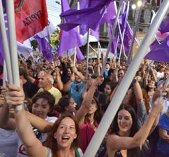 SYRIZA supporters rally in Athens before the election (Georgiou Nikolas | ABACA Press)