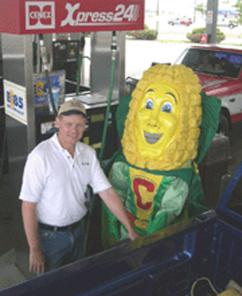 Meet Captain Cornelius, the ethanol industry's mascot.