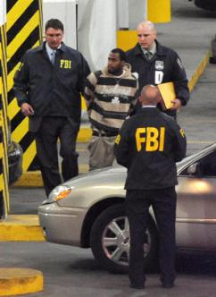 FBI agents arrested David Williams along with three other men as alleged plotters in a terror attack (Daniel Shapiro | Splash News)