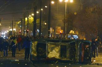 Demonstrators angry at police repression of their protests built barricades throughout the center of Athens (Indymedia)