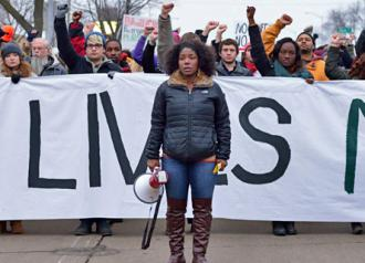 Madison demonstrators march in solidarity with Mike Brown and Eric Garner (Ferguson to Madison)