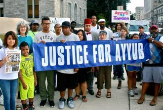 Supporters of Ayyub Abdul-Alim gather for a rally before a court date (Justice for Ayyub)