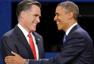 Mitt Romney and Barack Obama meet at their second debate