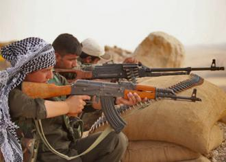Fighters against ISIS in Kobanê