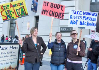 Standing up for abortion rights in the Bay Area (Steve Rhodes)