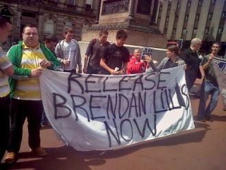 Activists rally for the release of Brendan Lillis