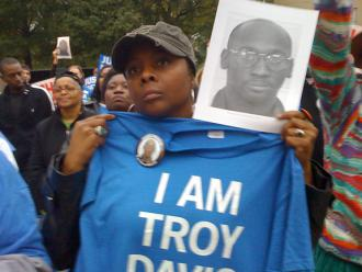 Marching for justice for Troy Davis