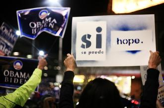 An election-eve rally for Barack Obama in Lincoln, Neb. (Alexandra Matzke)