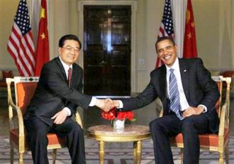 President Obama meets with Chinese President Hu Jintao