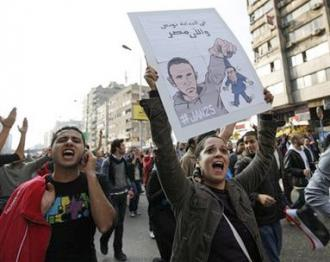 Hundreds of thousands of protesters fill the streets of Cairo calling for Mubarak to step down