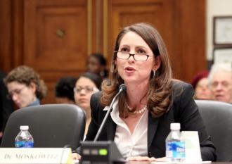 "Harlem Success Academy CEO Eva Moskowitz delivering congressional testimony on school ""reform"""