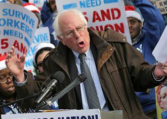 Bernie Sanders on the campaign trail