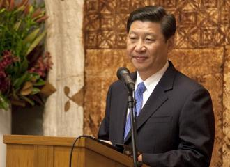Xi Jinping speaking in New Zealand  (Luci Harrison)
