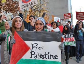 Chicagoans march in solidarity with Gaza during Israel's onslaught (Carole Ramsden | SW)