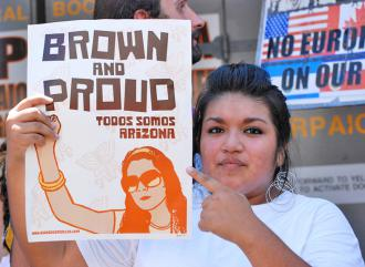 Protesting Arizona's SB 1070 in Phoenix on July 29 as part of a national day of action