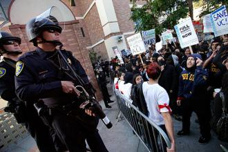 Student protesters at UCLA have faced tear gas, tasers and arrests