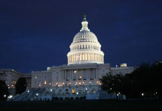 The U.S. Capitol building at night (Natalie Maguire)