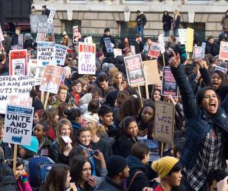 British students protest against rising fees and budget cuts to education (Chris Beckett)