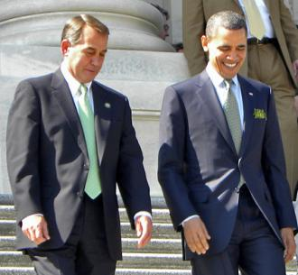 John Boehner and Barack Obama (Rachel Whitt)