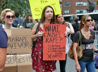 Marching at a Slutwalk demonstration in New York City (Charlotte Cooper)