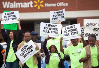 Wal-Mart workers join in a coordinated day of protests and work actions (Marc F. Henning)