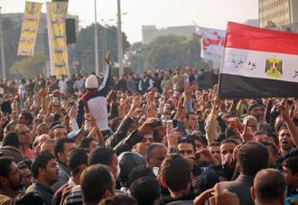 Protesters fill Tahrir Square in a renewed wave of mass protest (Mosa'ab Elshami)
