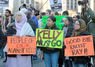 Protesters against police surveillance of Muslims gather in New York City's Foley Square