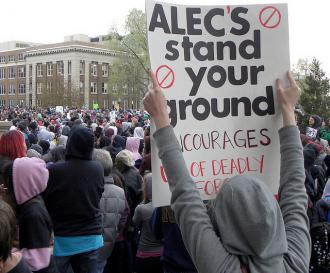 Protesters demanding justice for Trayvon Martin call out ALEC for its role in promoting Stand Your Ground laws