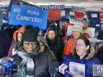 Chicagoans rally against new charter schools ahead of a Board of Education vote  (Ervin Lopez)
